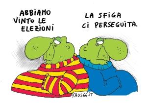 vinto le elezioni kaos66 vignetta satira 050 col web