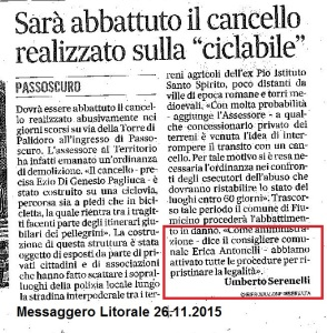 (2015-11-26) Messaggero litorale - cancello passoscuro-001